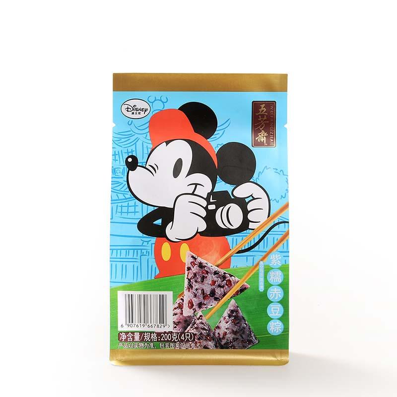 五芳斋粽子迪士尼*真空五芳紫糯赤豆粽50克*4