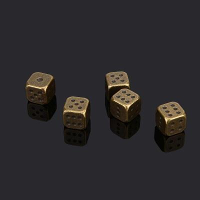金屬骰子銀色古銅金色骰子篩子酒吧用品KTV麻將棋牌色子骰子色粒