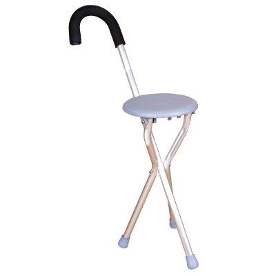 高博士(GAO BO SHI) 老人拐杖椅子拐杖凳子多功能拐扙三腳折疊助行帶坐拐棍手杖適用人群婦科老人人士成人通用灰色