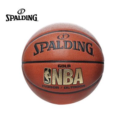 斯伯丁SPALDING 74-606Y NBA金色經典系列 耐磨防滑PU材質 七號籃球(標準男子比賽用球)通用籃球