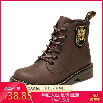 SHOEBOX/鞋柜冬季马丁靴女英伦风中短筒复古时尚靴子女1117505246