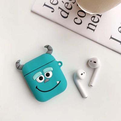 鸿伟科(HWK) airpods保护套可爱卡通airpods2苹果无线蓝牙耳机防摔硅胶套潮牌 蓝牙耳机保护套-毛怪