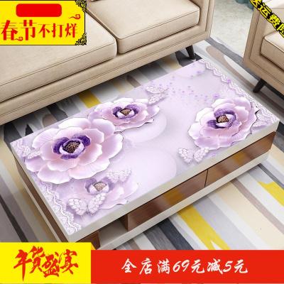 茶几桌布防水防油防烫免洗长方形台布3D印花桌垫PVC软玻璃茶几垫