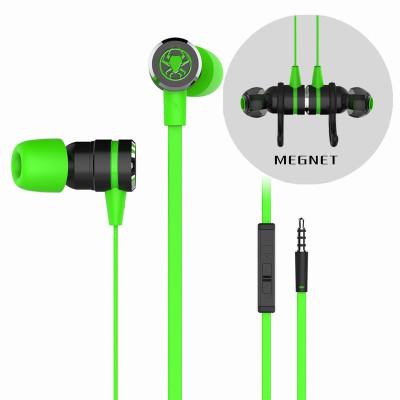 浦記(PLEXTON)G20手機電腦游戲耳機入耳式K歌耳麥帶線控可通話 磁吸便攜降噪 帶延長線音頻線 2米線