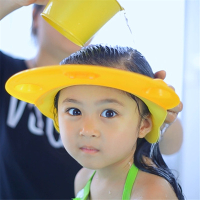 兒童硅膠洗頭帽寶寶洗發帽彈性硅膠防水護耳浴帽小孩洗頭神器