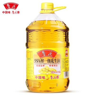 鲁花 食用油 5S物理压榨 花生油 5.436L