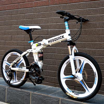 20寸24/27变速儿童男女式一体轮双减震碟刹越野折叠山地车自行车
