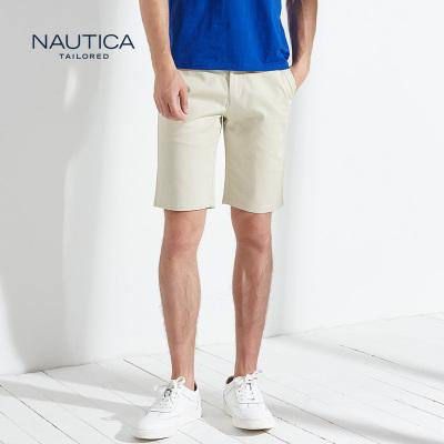 【5折價:192】諾帝卡/NAUTICA TAILORED夏季男士簡約商務百搭短褲