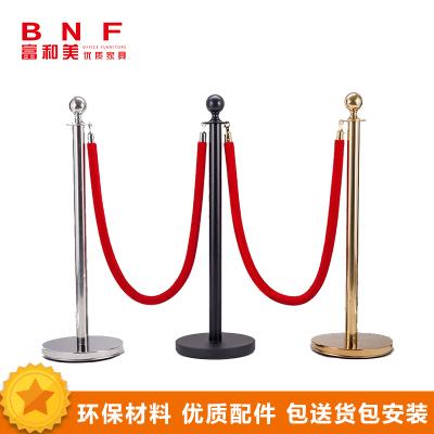 富和美(BNF)豪华挂绳圆球栏杆座不锈钢排队柱酒店迎宾礼宾杆围栏圆头护栏98礼宾杆