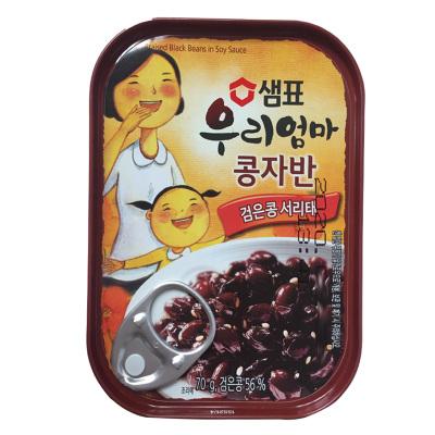 韓國進口膳府醬黑豆罐頭 70g下飯菜泡菜即食配菜罐頭