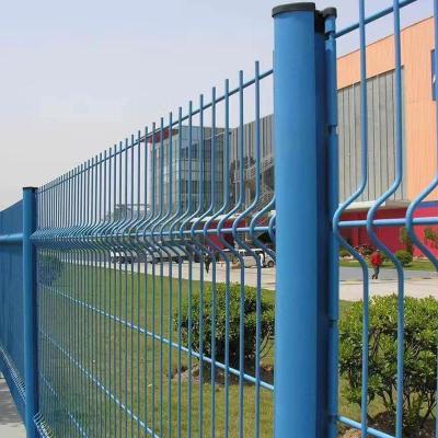 桃形柱折弯护栏网居民区围栏小区防攀爬桃型柱护栏网片金属钢丝网防护网隔离网
