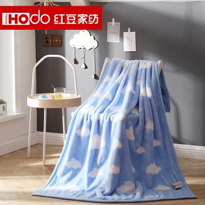 紅豆家紡 毛毯雙層加厚春秋冬季兒童幼兒園午睡毯拉舍爾云毯 朵朵云多用蓋毯
