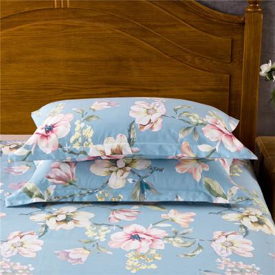 素風家紡 加厚磨毛全棉枕套一對 純棉磨毛斜紋印花枕套一對48*74cm