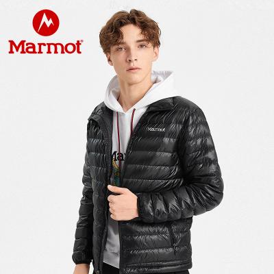 Marmot/土拨鼠冬季新款男士羽绒服轻薄无帽700蓬透气舒适