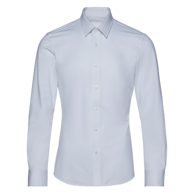 碼尚定制MatchU商務針織襯衫男 購買后會發送量體鏈接 2020春秋新款商務休閑襯衫男長袖 白色