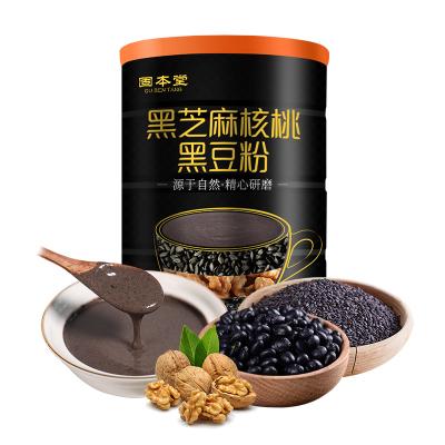固本堂黑芝麻核桃黑豆粉糊熟五谷雜糧粉營早餐營養代餐粉600g