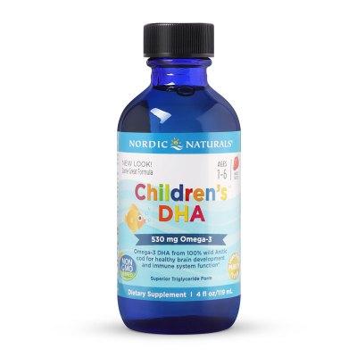 美國進口NORDIC NATURALS 挪威小魚 嬰幼兒寶寶DHA鱈魚肝油兒童DHA滴劑魚油 草莓味 119毫升/瓶