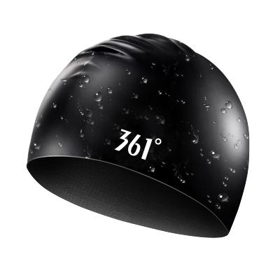 361°361泳帽泳镜套装男女士长防水不勒头硅胶成人专业儿童游泳帽子