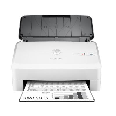 惠普(HP)SCANJET PRO 3000 S3高速馈纸式文档扫描仪(自动双面)白色(尊享服务)
