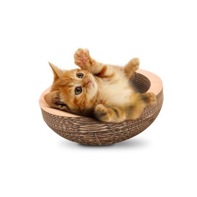 貓森林瓦楞紙貓窩貓抓板磨爪器 貓咪用品碗型貓爪板貓玩具 碗型