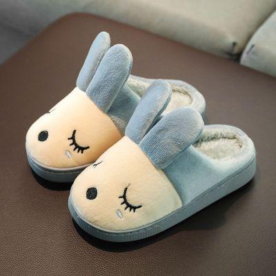 搭啵兔兒童棉拖鞋冬季卡通可愛保暖毛毛鞋男童女童一家三口居家室內棉鞋