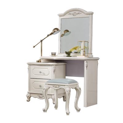 双虎家私 化妆台梳妆台欧式卧室小户型 经济型多功能化妆桌17F1