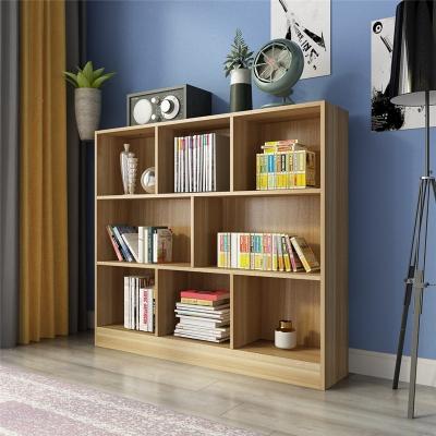 简约现代创意书架书柜自由组合简易书橱客厅置物落地柜子格子柜 1米5黑胡桃