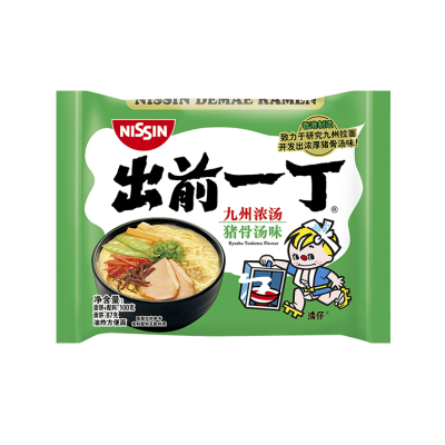 香港進口 出前一丁方便面 九州豬骨濃湯味 100g 速食面