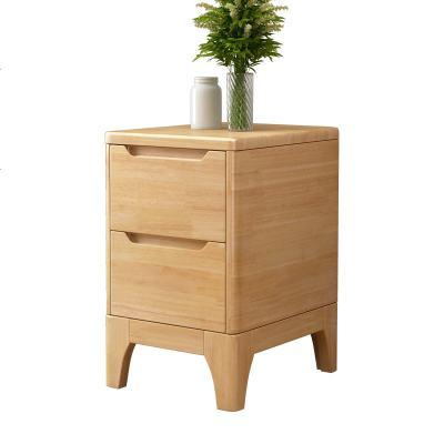彬蔚彬蔚純全實木橡木迷你床頭柜簡約現代超窄30 /40CM北歐小夾縫柜子帶鎖