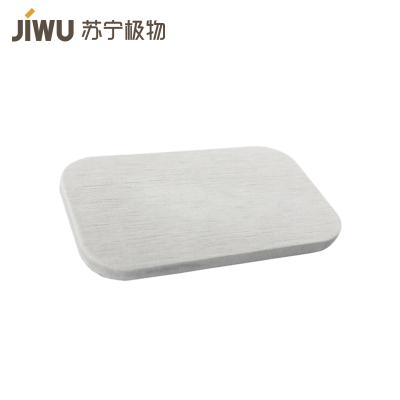 JIWU брэндийн  савангийн тавиур 70г саарал