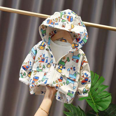 男女童外套春秋薄款小童韓版拉鏈帽衫2020新款嬰兒童寶寶洋氣夾克兒童運動茄克 娜蜜雨(NAMIYU)