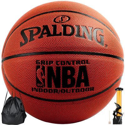 斯伯丁SPADLING籃球室內外通用NBA經典掌控5號青少年比賽籃球 74-672Y