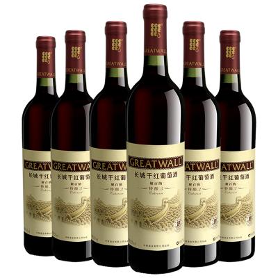 【官方旗艦店】長城特釀3解百納干紅葡萄酒750ml*6瓶 沙城產區 中糧直營紅酒