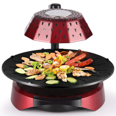 金正(NINTAUS)JZK-614 双层家用电烤炉烧烤炉上蒸下烤电烤盘 无烟不沾烤肉机烧烤 3D红外线烧烤 经典黑色1