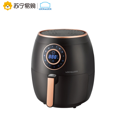 樂扣樂扣(LOCK&LOCK)空氣炸鍋 家用智能無油炸鍋 溫度示屏 5.5L大容量 智能觸屏面板
