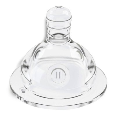 STOKKE母乳實感 寬口徑奶嘴 硅膠 M中圓孔(3-6個月)單個裝