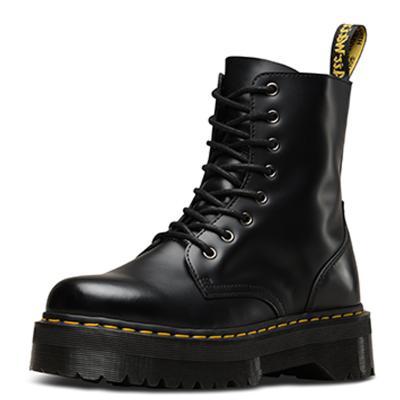 【直營】宋妍霏同款Dr.Martens馬汀博士Jadon系列光面牛皮松糕底厚底馬丁靴女靴