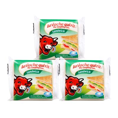 乐芝牛奶酪芝士 早餐搭配原装进口再制干酪 三明治原味切片奶酪200g*3袋