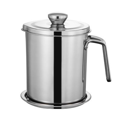 家佰利 油壺304不銹鋼大號家用帶蓋防漏防蟲控油儲油罐廚房用品 大容量過濾油渣濾油罐