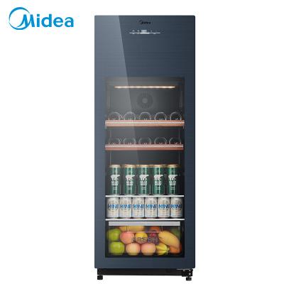 美的(Midea)JC-160GEM 家用恒温红酒柜冰吧冷藏雪茄酒柜玻璃冰柜
