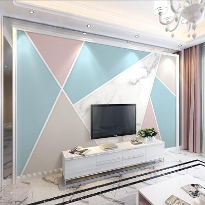 5d北歐閃電客電視背景墻壁紙自粘墻貼3d立體影視墻紙客廳8d幾何裝飾貼畫 8d綢緞布/1平方價格 超大