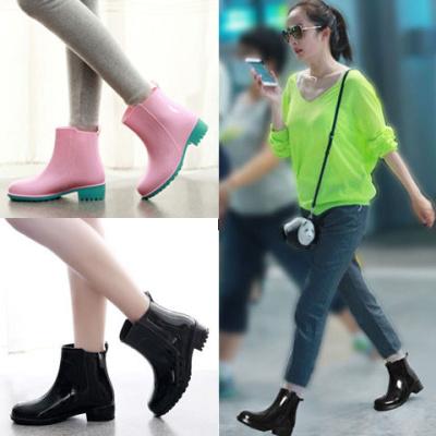 雨鞋女士短筒防滑成人雨靴水鞋女式中筒女式学生胶鞋防水雨鞋女PVC 臻依缘
