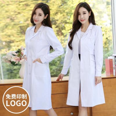 白大褂長袖醫生服女護士服夏裝短袖院工作服實驗服學生化學掛