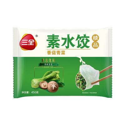 三全 素水餃 香菇青菜口味 450g 餡料飽滿面皮勁道 方便速食 營養美味 快手料理