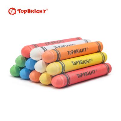 特寶兒(Topbright)多色支裝戶外粉筆 3-6歲男孩女孩兒童畫板玩具黑板繪畫配件安全無毒微塵粉筆 120215