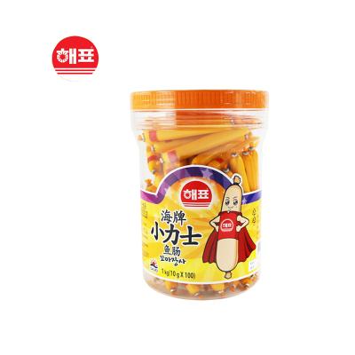 海牌小力士鱼肠(10g*100支)1000g韩国进口多口味婴幼儿即食休闲儿童零食