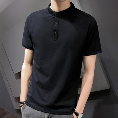 波斯萊 主推新款POLO衫男士簡約純色短袖T恤男2020夏季黑色商務休閑男裝經典上衣