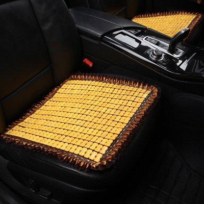 皓邦汽车坐垫 夏季座垫凉垫 竹片单座 米色
