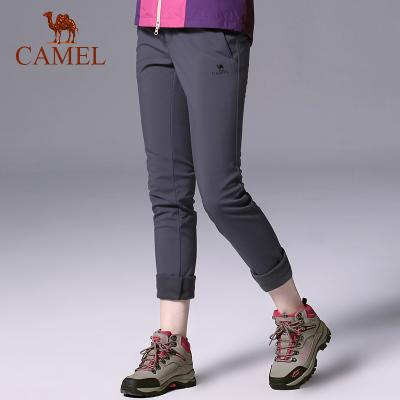 CAMEL骆驼防风保暖耐磨秋冬软壳裤 户外徒步女款冲锋软壳长裤