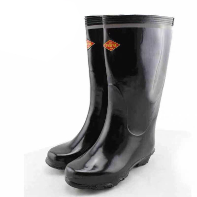 双安 电工绝缘雨鞋 雨靴 男高筒高压防电安全鞋 水鞋 PVC绝缘胶鞋套鞋
